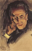 Portrait of Gustav Mahler, 1907 Fine Art Print