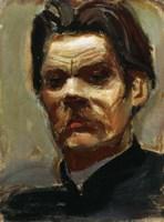 Portrait of the Author Maxim Gorky (1868-1939), 1906 Fine Art Print