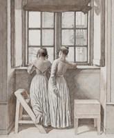 At a Window in the Artist's Studio, 1852 Fine Art Print