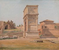 The Arch of Titus in Rome, 1839 Fine Art Print