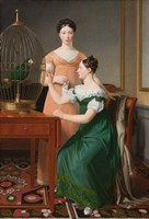 Mendel Levin Nathanson's Elder Daughters, Bella and Hanna, 1820 Fine Art Print