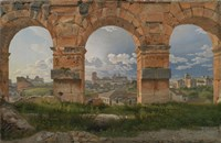 View through Three Arches of the Third Storey of the Colosseum, 1815 Fine Art Print