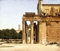 View of the Via Sacra, Rome, 1814 Fine Art Print