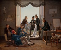 A Group of Danish Artists in Rome, 1837 Fine Art Print