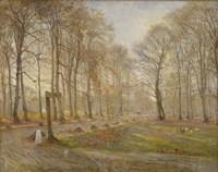Late Autumn Day in the Jaegersborg Deer Park, North of Copenhagen, 1886 Fine Art Print