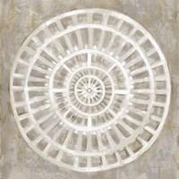 Neutral Textured Medallion Light Fine Art Print