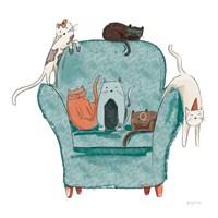 Playful Pets Cats I Fine Art Print
