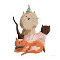 Picnic Pets Cats II Fine Art Print