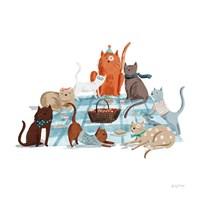 Picnic Pets Cats I Fine Art Print