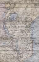 Old Map Africa Fine Art Print