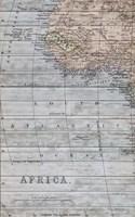 Old Map Africa II Fine Art Print