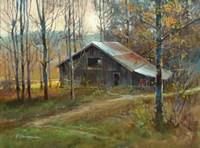 Pinnacle Mountain Barn Fine Art Print