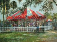 J & S Carousel Fine Art Print