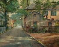 The Little House on Spanish Street Fine Art Print