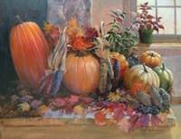 Pumpkins on the Hearth Fine Art Print