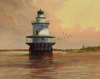 Goose Neck Lighthouse - Maine Fine Art Print