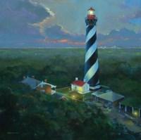 St. Augustine Lighthouse Aloft Fine Art Print