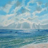 Boats Moored in Morning Sun Fine Art Print