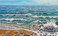 Wind White Waves Fine Art Print