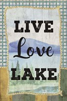 Love, Love, Lake Framed Print