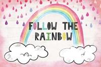 Follow the Rainbow Framed Print