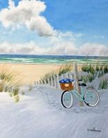 Beach and Bike Fine Art Print