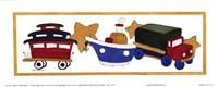 """Transportation I by Carol Robinson - 10"""" x 4"""""""