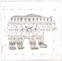 Patterned Bear Framed Print
