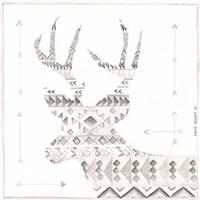 Patterned Deer Framed Print
