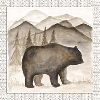 Bear w/ Border Framed Print