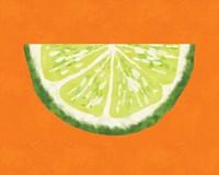 Lime Wedge Fine Art Print