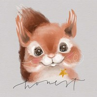 Honest Squirrel Fine Art Print