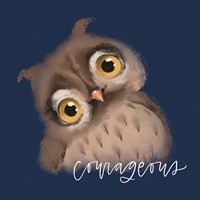 Courageous Owl Fine Art Print
