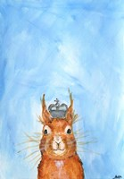King Squirrel Fine Art Print