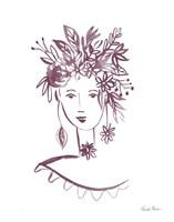 Flower Girl I Plum Fine Art Print