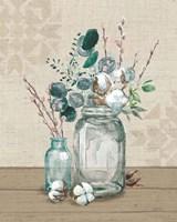 Cotton Bouquet II Framed Print
