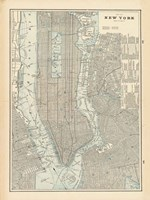 New York City Map Fine Art Print