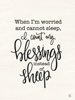 Count Your Blessings Instead of Sheep Fine Art Print