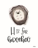 H is for Hedgehog Fine Art Print