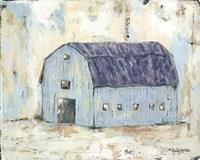 Blue Barnyard Fine Art Print
