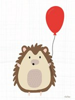 Hedgehog with Balloon Fine Art Print
