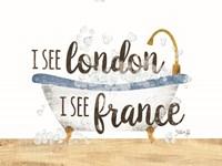 I See London Bathtub Fine Art Print