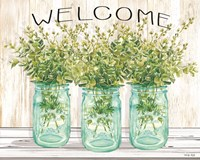 Welcome Glass Jars Fine Art Print