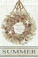Summer Beach Wreath Fine Art Print
