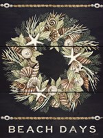 Beach Days Shell Wreath Fine Art Print