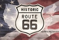 Patriotic Route 66 Fine Art Print