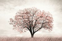 Rose Gold Tree Fine Art Print