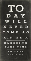 Eye Chart III Framed Print