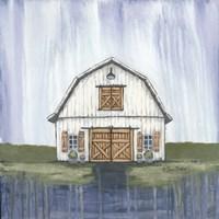 White Garden Barn Fine Art Print