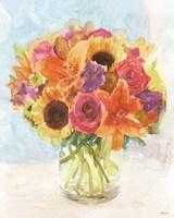 Vase with Flowers I Fine Art Print